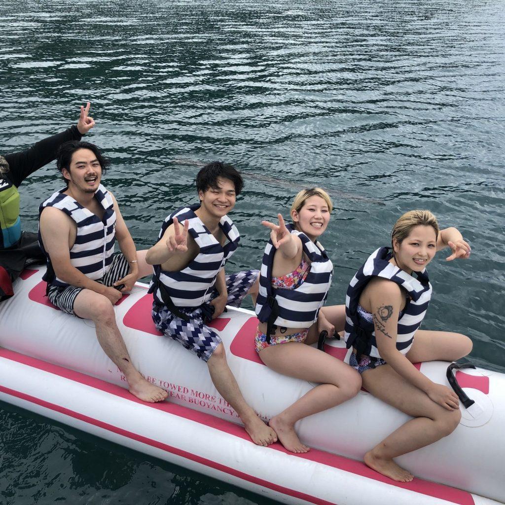 西ノ島でバナナボート!